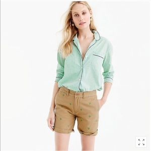 J. crew Palm Tree Chino Shorts, Size 4